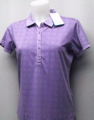 New Ladies Size US 10/MED PING Halie short sleeve viola polo golf shirt
