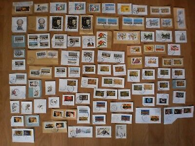 Lot 100 Timbres 2017 + 3 Timbres 2016 Obliteres Cachets Ronds
