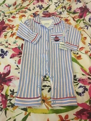 Jojo Maman Bebe 3-6 Months Boys Pyjamas All In One New