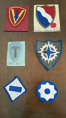 Lot of 6 Various Vintage Military Patches