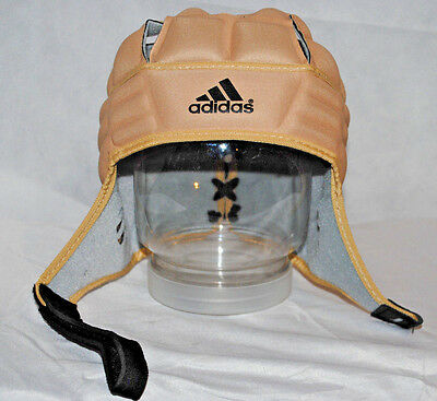 Mens ADIDAS Rugby Scrum Cap Head Protection Size LARGE Ventilated Guard Hat