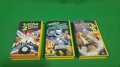 Pokemon VHS Tape Bundle Mewtwo Returns 2000 The Movie 3