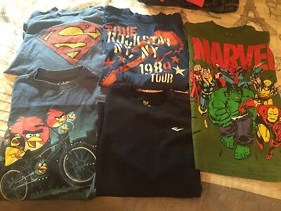 Marvel Comics Large 10/12 Boys Shirt and 4 other shirts Lot of 5 shirts