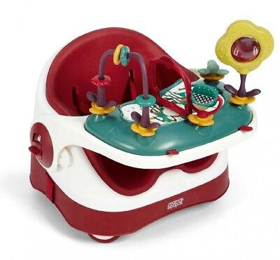 Mamas & Papas Baby Bud Booster Feeding High Chair Seat Red