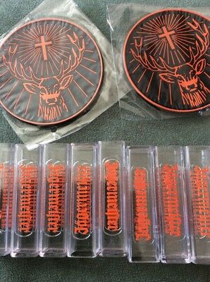 Jagermeister Shot  Glasses And 2 Mats.