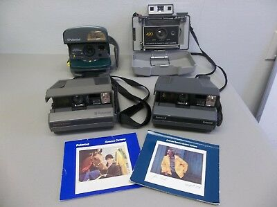 Lot of 4 Polaroid Cameras Spectra System Spectra 2 One Step Express 420 Auto