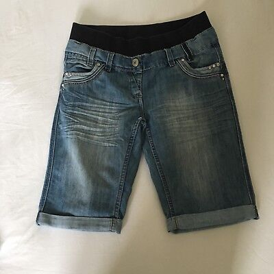 Maternity Shorts Denim Size 12 Blue