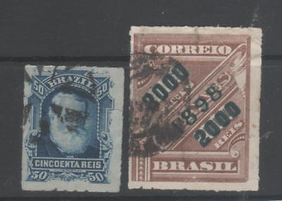 BRAZIL 2 early stamps used.