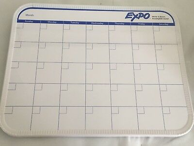 """14"""" x 11"""" EXPO Monthly Dry Erase Calendar Board Planner NEW"""