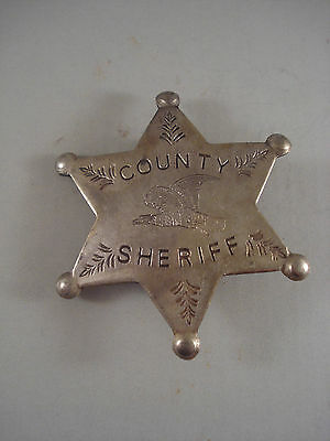 County Sheriff Star WESTERN BADGE OF THE OLD WEST PIN 52 Whiskey Girls