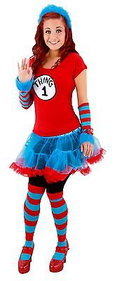 Dr. Seuss Thing 1&2 Striped Knee High Socks by elope