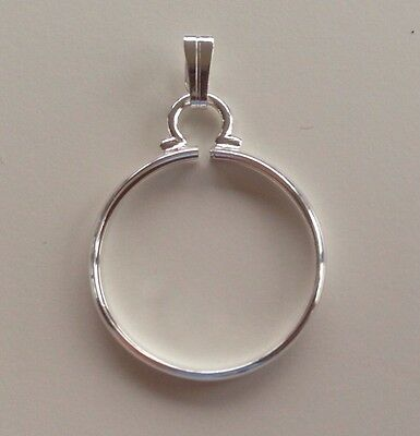 Silver Coin Cinch/ Holder/Mount for Jewellery/ Necklaces/ Keyring