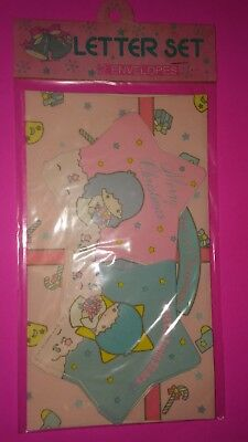 1976 Rare Little Twin Stars Sanrio Merry Christmas Letter Set With 2 Envelopes