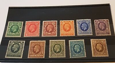 gb stamps kg v  1934/36 full set of 11 mint and f /used
