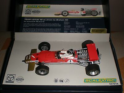 """Scalextric Team Lotus 49 F1 """"Legends"""" - New Boxed C3701A- FREE UK P&P"""
