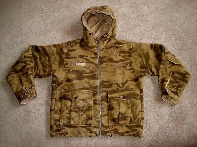 Mens Columbia Wool Blend Camo Hunting Coat Jacket Size Medium M