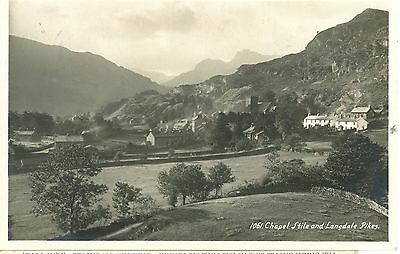 B1 Chaple Stile &langdale Pikes.ambleside-  Real Photo-Postcard. Posted 1930