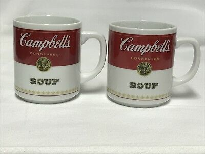 Set Of 2 Campbell's Soup Coffee Mugs Collectible