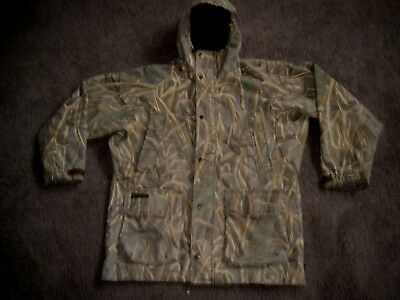 Mens Columbia Interchange Waterproof Marsh Camo Hunting Coat Jacket Sz Medium M