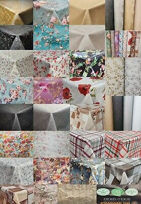 Traditional Floral Plain Printed All Occasions Pvc Plastic Vinyl Table Cloths