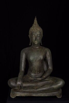 Masterpiece 18th Century Sukhothai Thai Enlightenment Buddha Statue - 74cm/30""