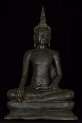 Masterpiece 18th Century U Thong Thai Enlightenment Buddha Statue - 67cm/27""