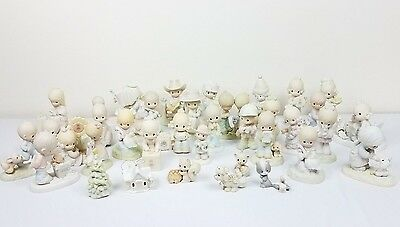 PRECIOUS MOMENTS MIXED LOT 35 Pieces 6 Of The Original 21 Mostly 70's and 80's