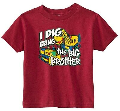Lil Shirts Little Boys I Dig being The Big Brother Youth and Toddler Tee Shirt