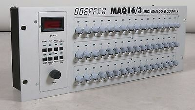 Doepfer MAQ 16/3 MIDI Analog Sequencer with blue leds + manual