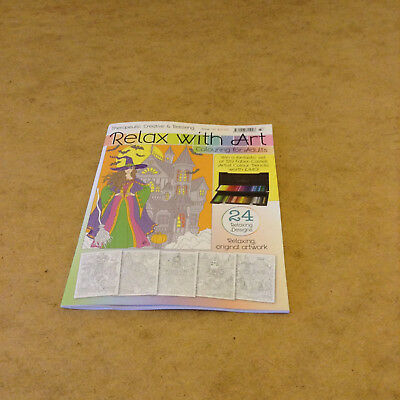 Relax With Art Issue 33 Halloween Witch Pumkin & More Colouring Book For Adults