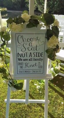 A1 A2 Wooden Easel Display Art Craft Wedding 5FT Pine Wood White (3 AVAILABLE)