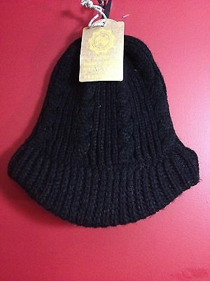 BICKLEY & MITCHELL Girl's Black Billed Beanie Hat - One Size - NWT