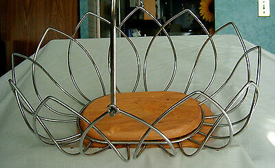 Wire and Wood Basket with Handle - very stylish