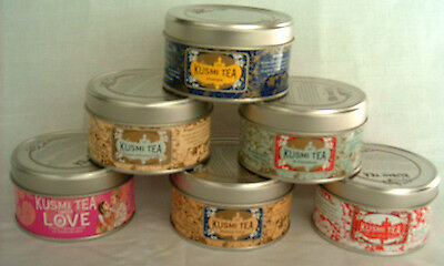 Miniature Storage Tins - 6 in set - great for loose leaf teas, spices