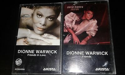 DIONNE WARWICK 2xCassette Tape Friends/Friends In Love POP R&B That's What Frien