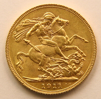 1911 Gold Sovereign - King George V - Ottawa, Canada Mint - Scarce -  UNC