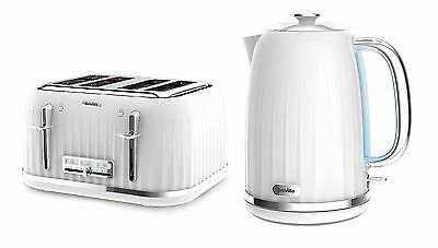 Breville Impressions Kettle and Toaster Set White Kettle & 4 Slice Toaster New