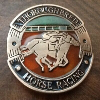 VINTAGE HORSE RACING / BELT BUCKLE FREE SHIP AS SHOWN  lot 35B