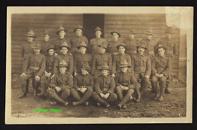 NEW ZEALAND TROOPS WW1 Group Photo postcard