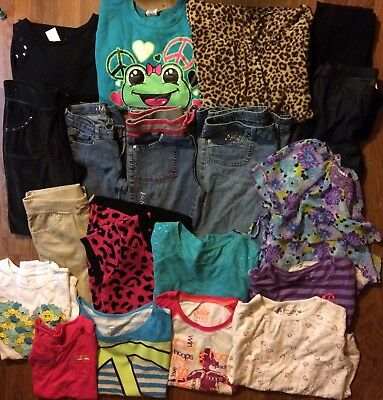 Girls Fall Winter Play Clothes Sweater Dress Pants Sz 10/12 Lot Of 20 Justice