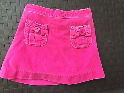 GYMBOREE 3 3T Pink Velour skirt Fall Winter Built-in Shorts