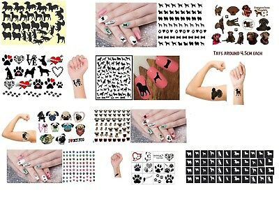 Dog Collection Nail Art - Stickers - Temporary Tattoos