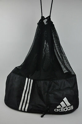 Black ADIDAS Ball Bag Mesh Tournament Team Football Soccer Volley Practice Game