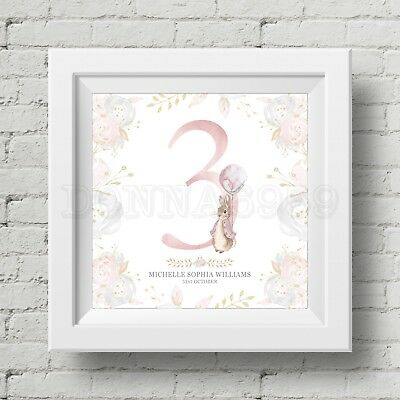 Peter Rabbit Personalised Age/Number Print - Ideal For Birthday *Not Framed*