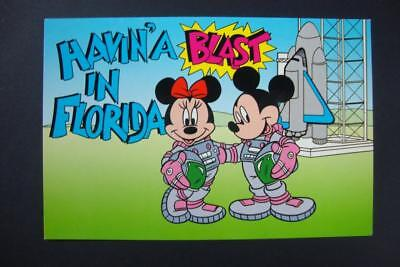 "698) Walt Disney Mickey & Minnie Mouse ""havin'a Blast In Florida"" And Spaceship"