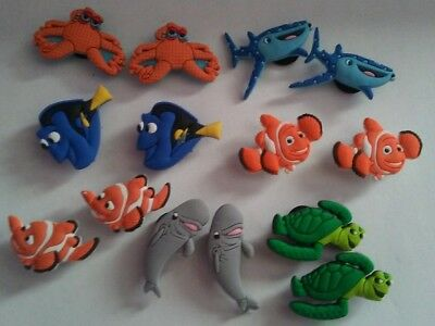 14 Finding Nemo Dory Shoe charms cupcake toppers cake toppers jibbitz crocs USA