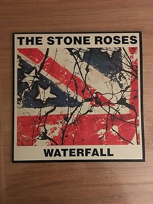 """Stone Roses Waterfall 1991 Uk 12"""" Vinyl + Print (As New Condition)"""