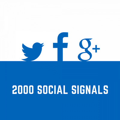 2000 Social Signals – Sozial Media Backlinks / Social Bookmarks - SEO