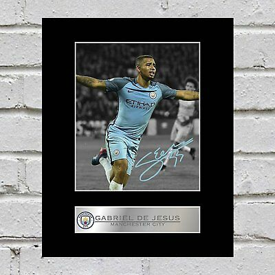 Gabriel De Jesus Signed Mounted Photo Display Manchester City FC