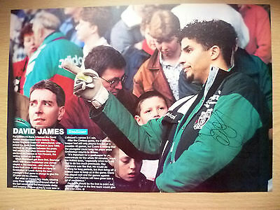 100% Genuine Hand Signed Press Cutting of Liverpool FC Player - DAVID JAMES